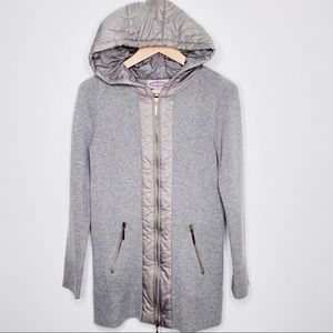 Oliver by Escio Gray Zip Hooded Sweater Jacket